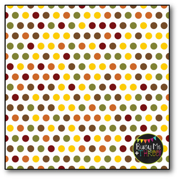 Fall Polka Dots on White Digital Papers {Commercial Use Digital Graphics}