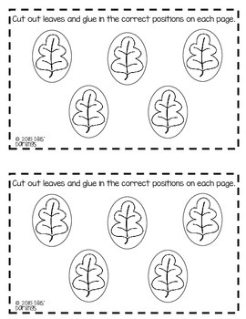Fall Positional Reader and Review Worksheet