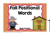 Fall Positional Words Mini Unit