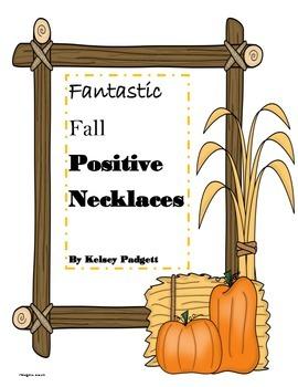 Fall Positive Reinforcement Necklaces/Notes