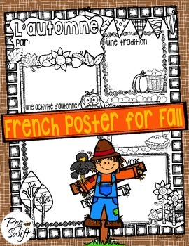 Fall Poster ~ French ~ L'automne