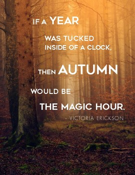 Fall Poster with Autumn Quote