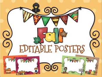 Fall Posters {Editable}