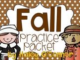 Fall Worksheets and No-Prep Printables