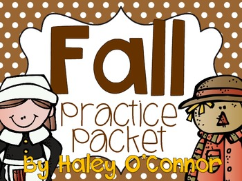 Fall Worksheets and No-Prep Printables