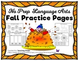 Fall Practice Pages for Elementary Literacy