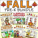 Fall Pre-K Bundle - Math and Language Arts Activities