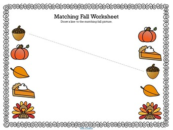 Fall Pre-K Worksheets - Literacy, Math and Colouring ...