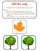Fall Pre-Primer Sight Word Center