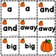 Fall Pre Primer Sight Word Memory Game Word Wall Autumn Dolch Literacy Centers