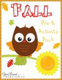 Fall PreK Activity Pack