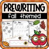 Fall PreWriting Worksheets
