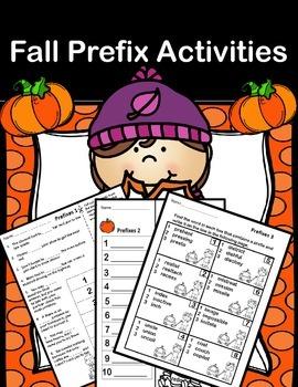 Autumn (Fall) Prefix Printables