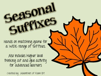 Fall Prefixes and Suffixes Combo Pack!