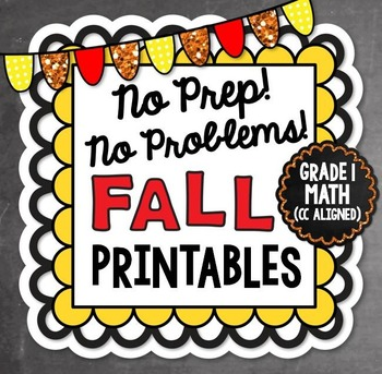 Fall NO PREP Math - 1st Grade