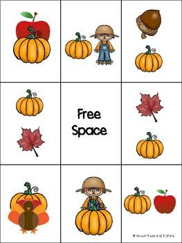 Fall Preposition Bingo