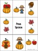 Fall Preposition Bingo
