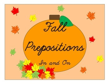 """Fall Prepositions """"In"""" and """"On"""""""