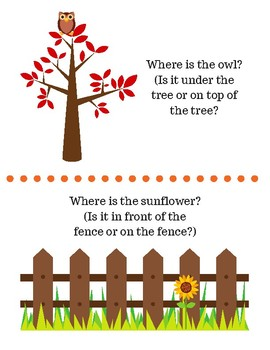 Fall Prepositions Packet
