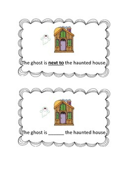 Fall Prepositions: Task Cards