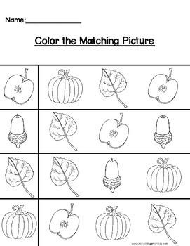 Fall Preschool Activity Pack