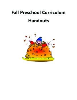 Fall Preschool Handouts