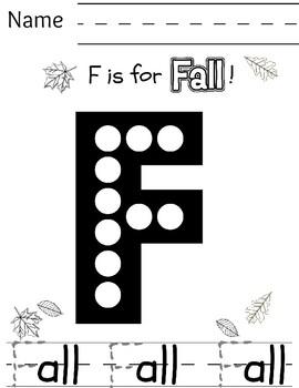 Fall Preschool/Kindergarten Print-and-Go Mini Pack
