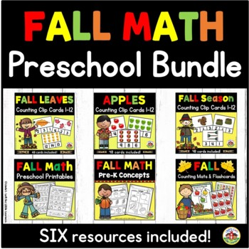 Fall Preschool Math Bundle