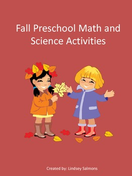 Fall Preschool Math and Science Activities and Centers