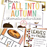 FALL THEME ACTIVITIES FOR PRESCHOOL, PRE-K AND KINDERGARTEN