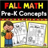 Preschool Concepts Fall Printables