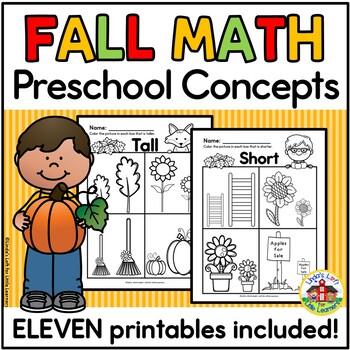 Preschool Concepts Fall Printables