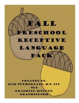 Fall Preschool Receptive Language Pack