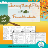 Fall Preschool Speech and Language Packet: Learning Through Play