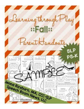 Fall Preschool Speech and Language Packet: Learning Throug