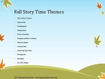 Fall Preschool Story Time Pack
