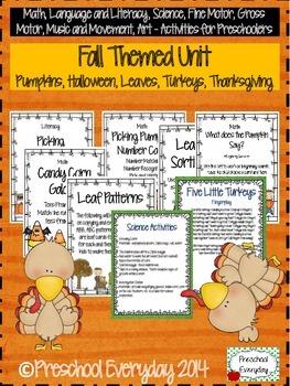 Fall Preschool Unit