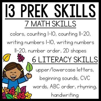 Fall Preschool Worksheets September