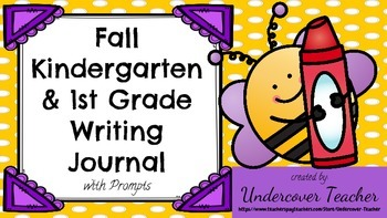 Fall Primary K-2 Writing Journal Bundle with Prompts, 60 pages