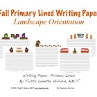 Fall Writing Paper: Primary Lines (Landscape and Portrait)