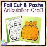 Fall Articulation Pumpkin Craft for Speech Therapy