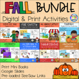 Fall Print and Digital Readers and Activities BUNDLE