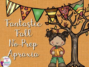 Fantastic Fall No-Prep Apraxia