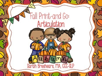 Fall No-Prep Articulation