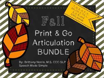 Fall Print and Go Articulation Pack Bundle
