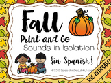 Fall Print and Go Articulation Spanish Sounds - Sound Level Printable!