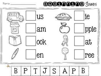 Fall Print and Go {Literacy & Math} Kindergarten Activities
