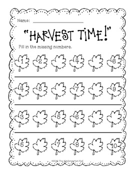 Fall Print-and-Go Math and Literacy Activities