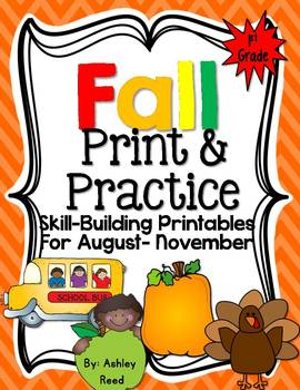Fall Print and Practice {Skill Building Activites for First Grade}