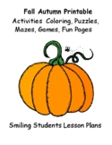 Fall Printable Activities Lesson